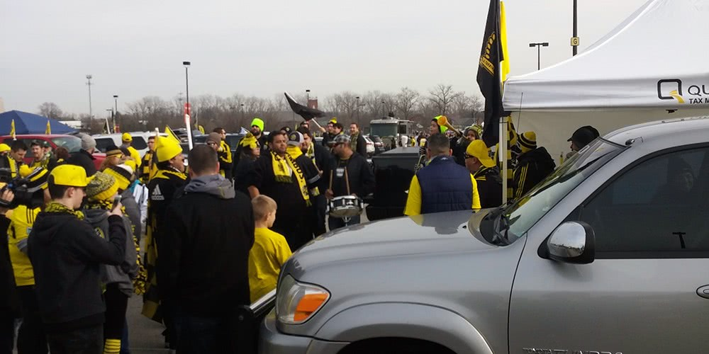 Tailgating for the 2015 MLS Cup Final in Columbus.