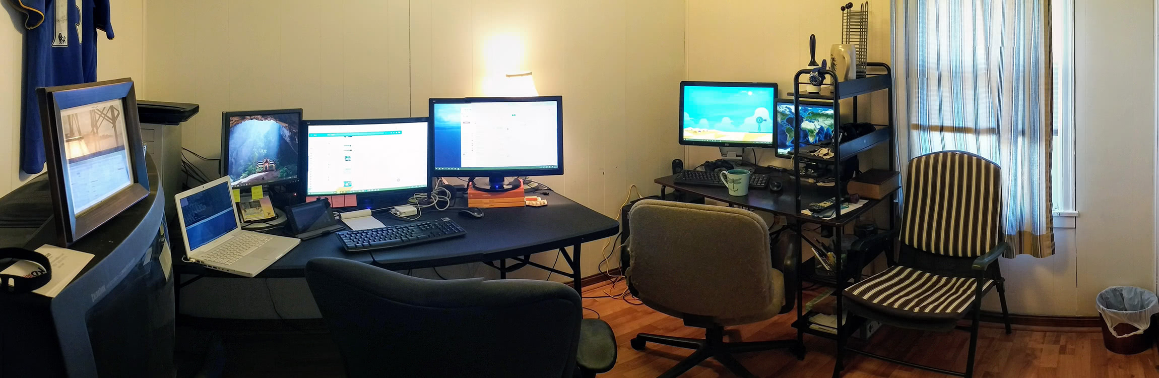 "Having a ""Double Office"" at Home"