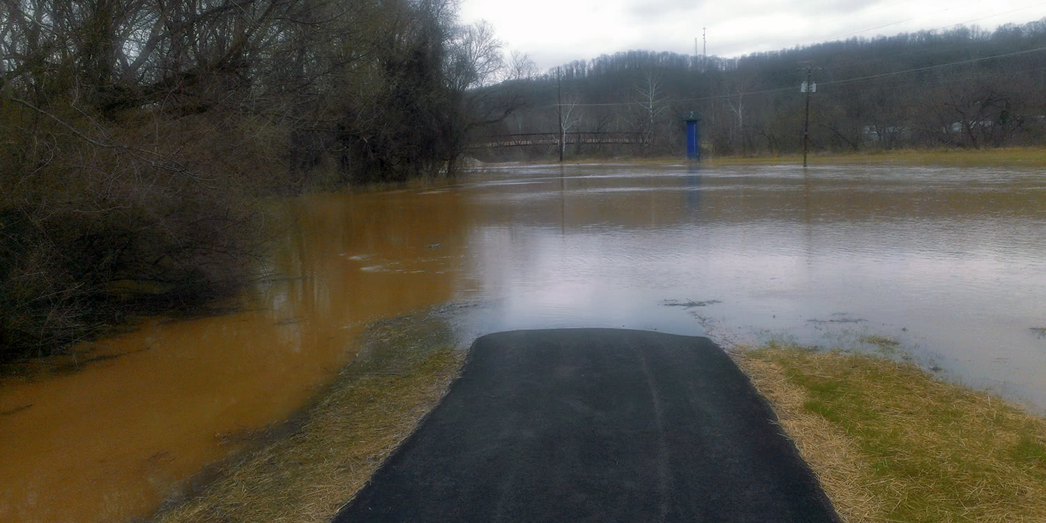 The Bike Path I Take to Work Flooded... Badly