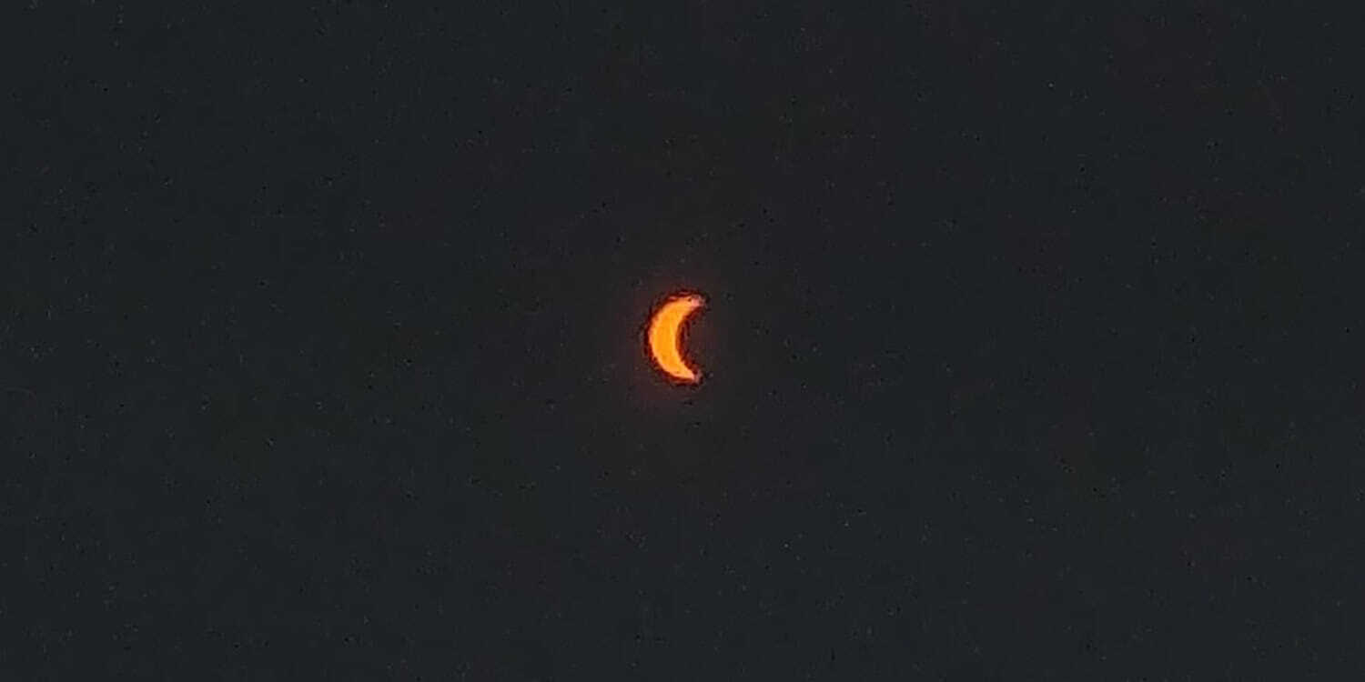 A Nearly Full Solar Eclipse in Athens, Ohio