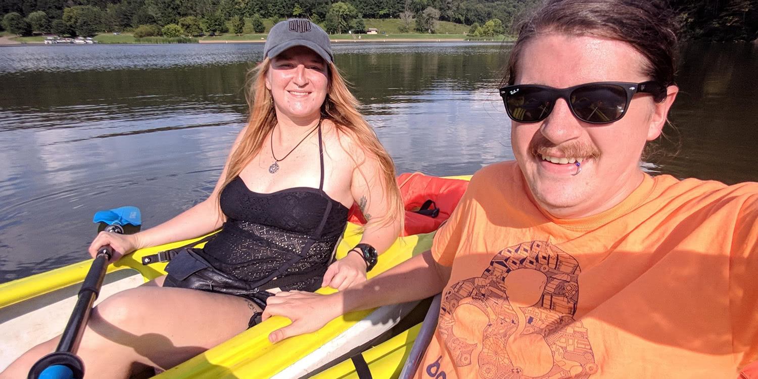 Kayaking at Stroud's Run with Heather